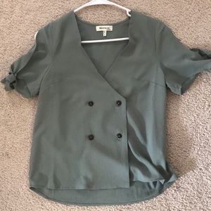 Sage colored blouse